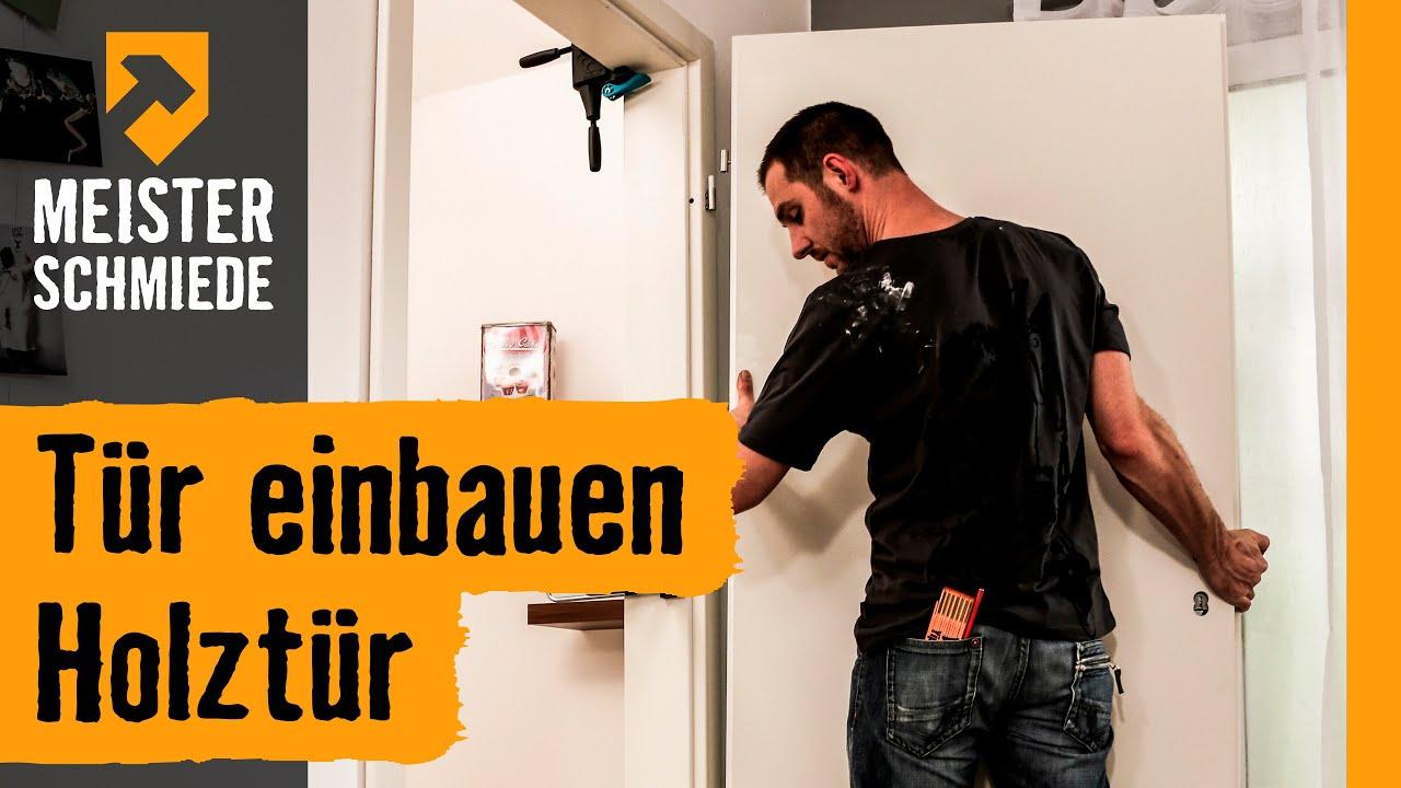Holztür einbauen title=