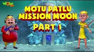 Motu Patlu Mission Moon - Movie - Part 1 | Movie Mania - 1 Movie Everyday | Wowkidz