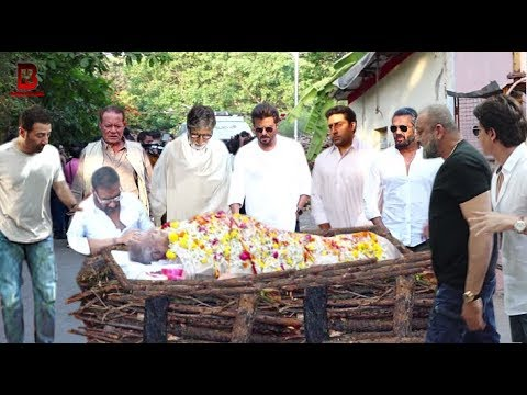 Bollywood Celebs Emotional In Ajay Devgn's Father Veeru Devgn Funeral | Amitabh, Sunny, Sanjay,Anil