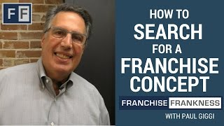 How to Search for a Franchise Concept