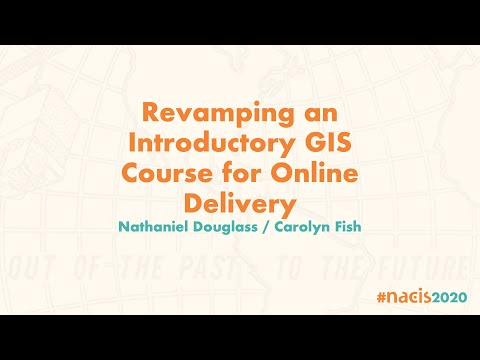 Revamping an Introductory GIS Course for Online Delivery - YouTube