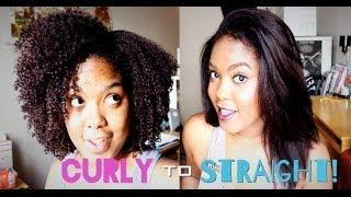 Natural Hair   Straightening Tutorial!!