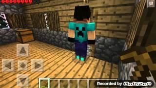 Minecraft pe survival 1. Bölüm ( köy bulduk)