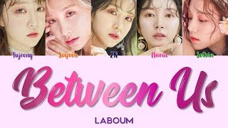 "LABOUM 라붐 "" Between Us 체온 "" Correct Lyrics (ColorCoded/Eng/Han/Rom/가사)"
