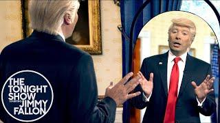 Trump Practices His Nobel Peace Prize Acceptance Speech