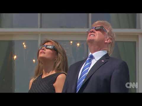 President Trump views the solar eclipse