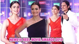 Alia Bhatt ,Dia Mirza At Other Bollywood Celebs Attend | News18 Reel Movie Awards 2019