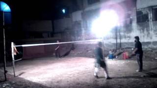 preview picture of video 'Badminton at Bangladesh, Dhaka, Banasree (October 28, 2014)'