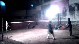preview picture of video 'Badminton at Bangladesh, Dhaka, Banasree (October 28, 2014)'
