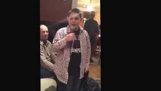 Blake Peterson sing winter wonderland at 2014 family Christmas