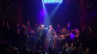 """John Fogerty performs """"Proud Mary"""" with Jackson Browne, Conor Oberst, Mike Campbell, Jonathan Wilson"""