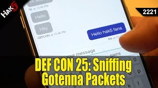 Sniffing Gotenna Packets and Voter Database Privacy Problems at DEF CON 25 - Hak5 2221