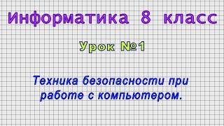 Информатика 8 класс Урок 1