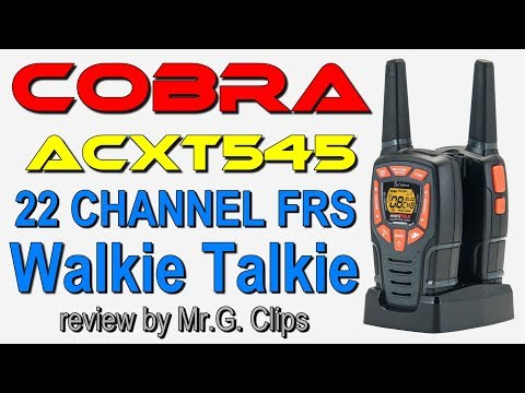Cobra ACXT545 28-Mile Range Walkie Talkie Review.