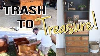 Trash To Treasure! | Furniture Makeover!