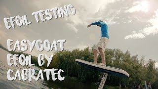 Testing efoil Cabratec Easygoat electric hydrofoil jetboard