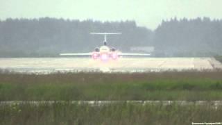ОТКРЫТОЕ НЕБО. OPEN SKIES ТУ-154М-ЛК-1 RF-85655 RUSSIAN FEDERATION Взлет в дождь.