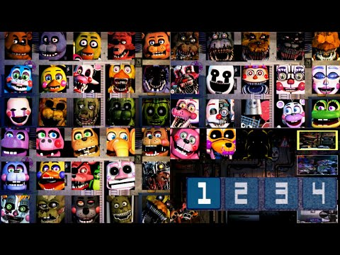 All jumpscares in Fnaf UCN Jumpscare Simulator Android