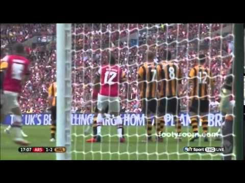 FA Cup Arsenal 3 - 2 Hull City  Football Highlights