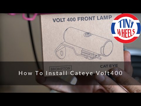 How To Install Cateye Volt 400 On A Brompton (English)