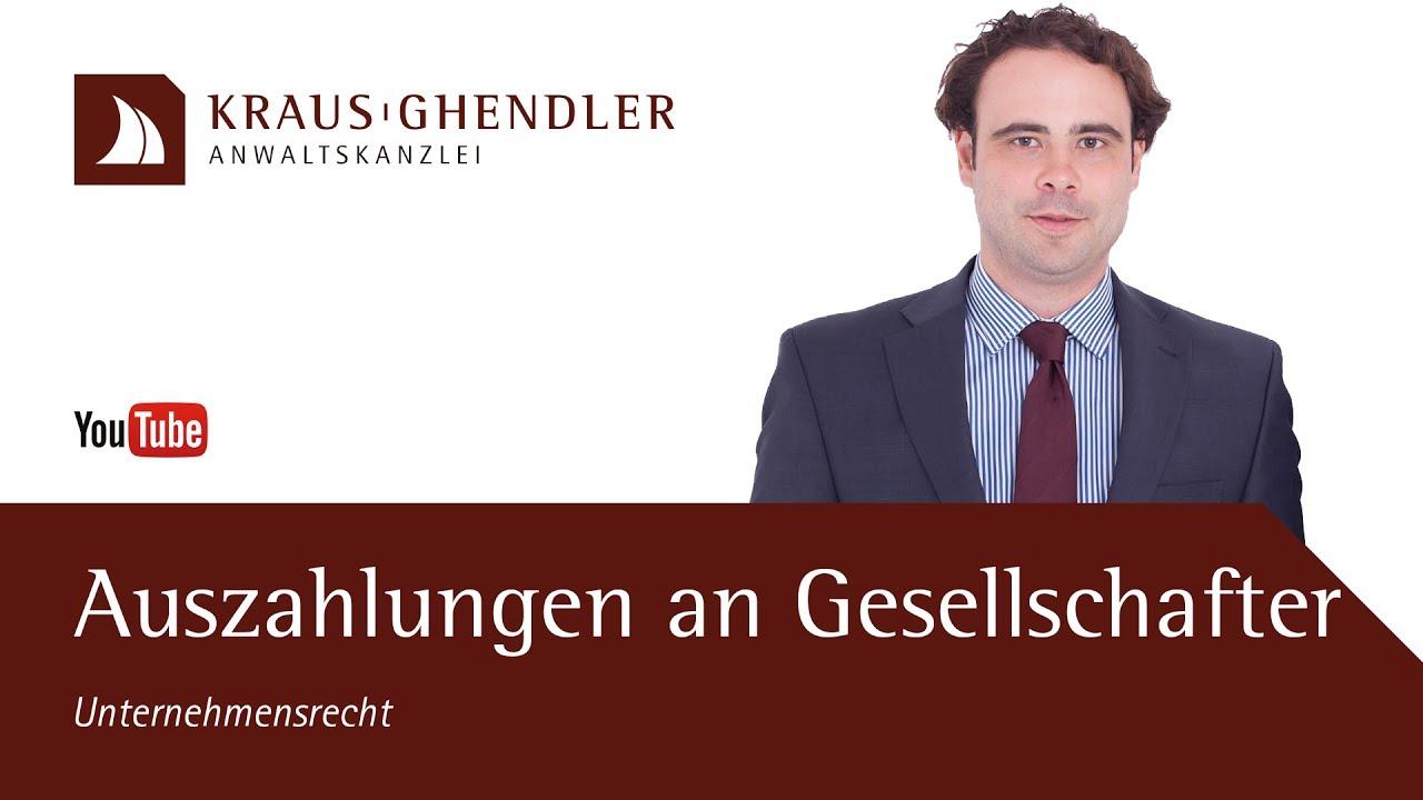 Auszahlungen an Gesellschafter durch eine UG oder GmbH