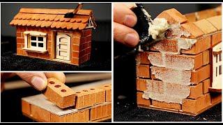 ASMR Building A Miniature House Brick By Brick