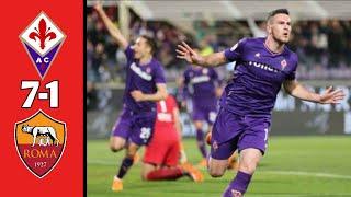 Fiorentina Vs As Roma 7 - 1 Full Goall