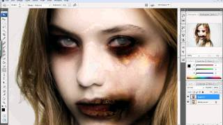 Photoshop Tutorial: How To Zombie-fy Yourself! (Halloween Series)