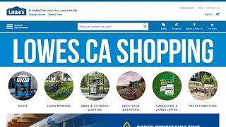 How to buy products at lowes.ca | Online Shopping at Lowe's Store Website