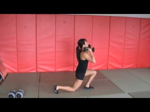 Dumbbell Reverse Lunge to Press
