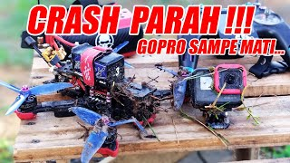 POWERLOOPS & CRASH..!!!   TERBANG KELIMA PAKAI 5 INCH DRONE FPV   iFlight Cidora SL5 V2.1 HD