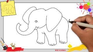 Zeichnen Und Farben Hund Einfach Für Kinder Kawaii Hund Malen