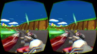 Mario Kart wii running in first person on Oculus Rift DK 2