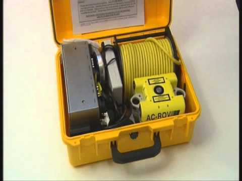 AC-ROV underwater inspection micro ROV deployment and system components