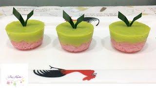 Seri Muka Bites | Sticky Rice Layer With Pandan Custard Recipe