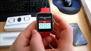 """Умные часы с сим-картой SmartWatch Phone G10D (красные) от компании """"Магазин Все, Что Нужно"""" - видео"""