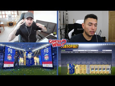 OMG MY BEST PACK ON FIFA 18 | GUESS WHO?! vs OAKELFISH | 98 RATED TOTS DISCARD?!