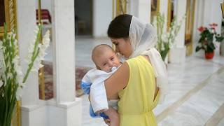 Крещение в католической церкви Святого Василия