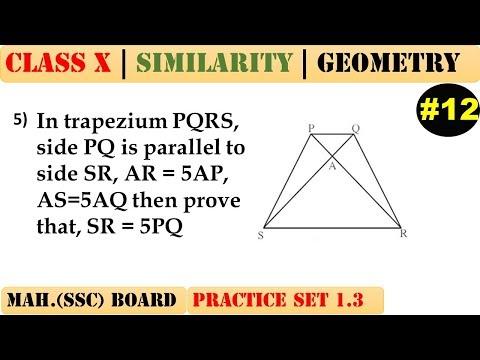 Similarity [Part 12] | Class 10 | Practice set 1.3 (MATHS 2) | Mah. (SSC) Board | Q5