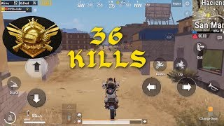 36 KILLS!! SOLO VS SQUAD PUBG Mobile Coffin