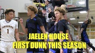 Jaelen House Throws Down His FIRST Dunk of the Season