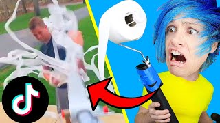 Trying 10 Funny TikTok PRANKS and life hacks!