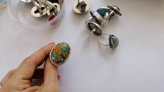 Gemstone Jewelry Collection Part 2 - Rings And Earrings