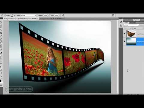 Photoshop | 3D Film Strip Effect