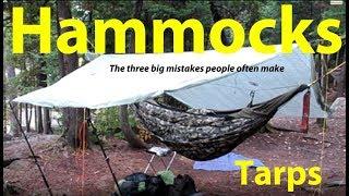 HAMMOCKS   The Three Big Mistakes People Often Make   Tarps