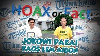 Hoax or Fact Jokowi Memakai Kaos Kuning Bertuliskan 'Cheap & Cheerful Aica Aibon'