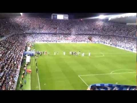 Malaga CF 1   0 Sporting de Gijon 'Celebracin de la aficin postpartido'.wmv