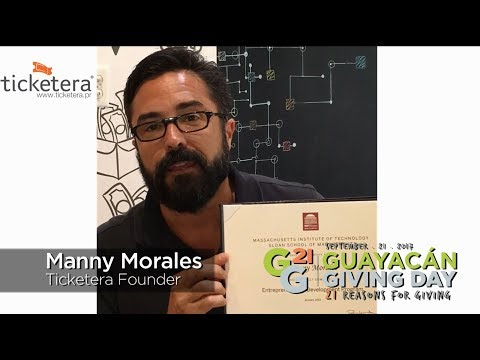 Guayacán Giving Day presenta Manny Morales de Tix.By y Ticketera y su razón para dar