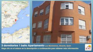 preview picture of video '3 dormitorios 1 baño Apartamento se Vende en Los Montesinos, Alicante, Spain'