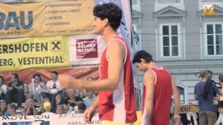 preview picture of video 'Sivag Beachvolleyball Event 2014 am Steyr Stadtplatz'